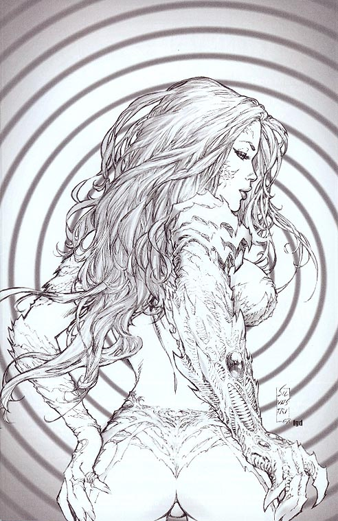 Witchblade 118 (Fantastic Real Exclusive Virgin Sketch Silvestri Cvr 1 of 1000 )