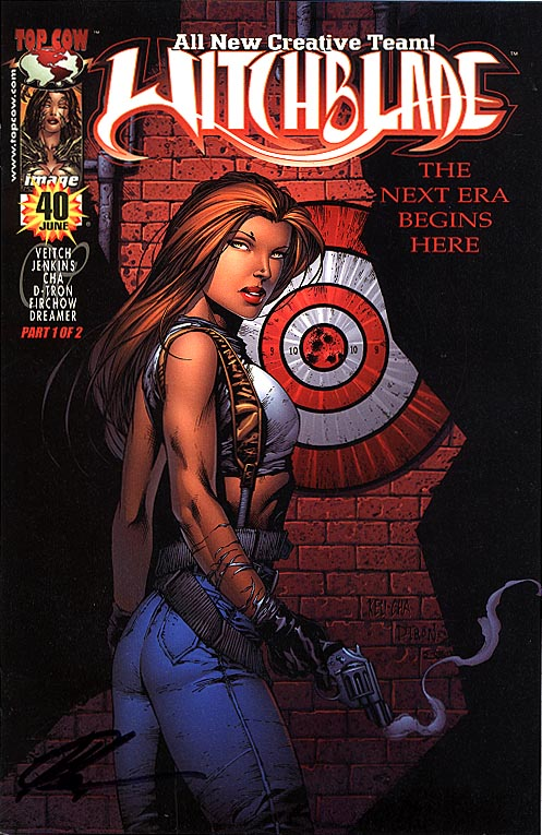 Witchblade 40 (Mid-West Bullseye Keu Cha Signed Cvr 1 of 120 )