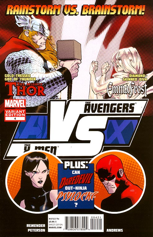 AVX VS 4 (of 6 ) ( 1 in 20 Brandon Peterson Fight Poster Variant)