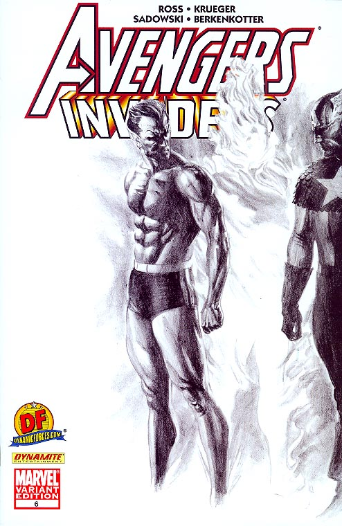 Avengers Invaders 6 (of 12 ) (DF Exclusive Sketch Variant 1 of 999 )