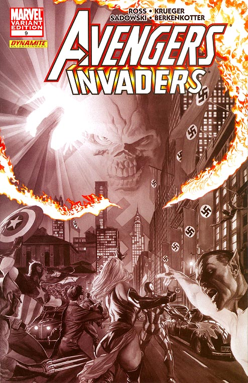Avengers Invaders 9 (of 12 ) ( 1 in 50 Incentive Ross Sketch Variant)