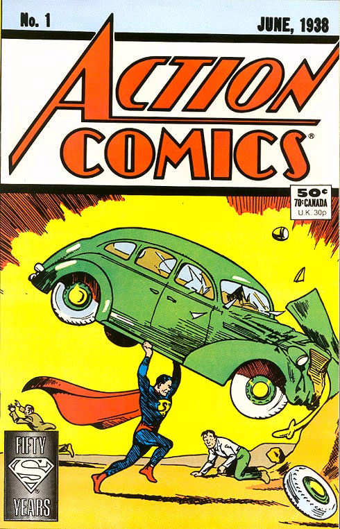 Action Comics 1 ( 1988 Reprint 50 cents White Box Edition)