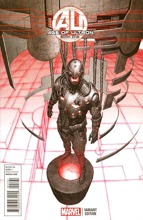 Age Of Ultron 1 (of 10 ) ( 1 in 25 Brian Hitch Ultron Variant)