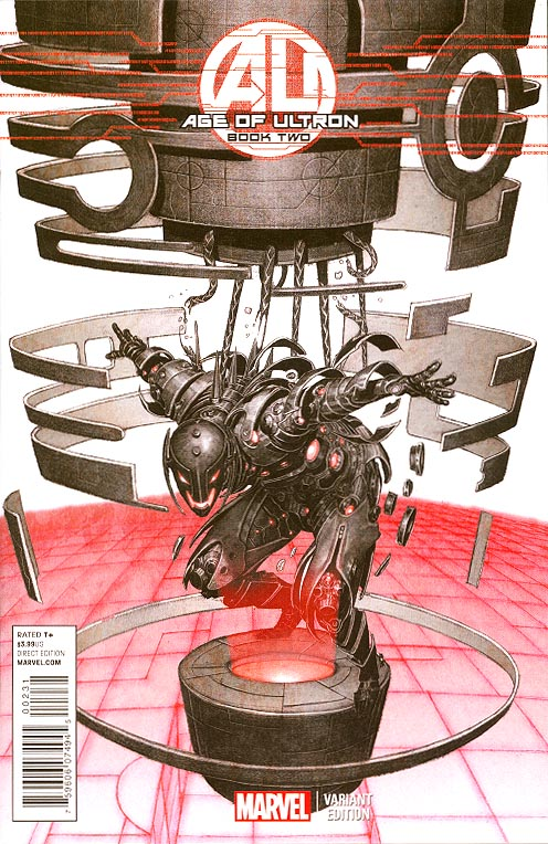 Age Of Ultron 2 (of 10 ) ( 1 in 25 Brian Hitch Ultron Variant)