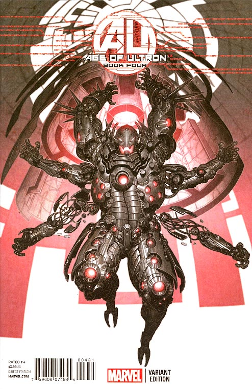 Age Of Ultron 4 (of 10 ) ( 1 in 25 Rock-He Kim Ultron Variant)