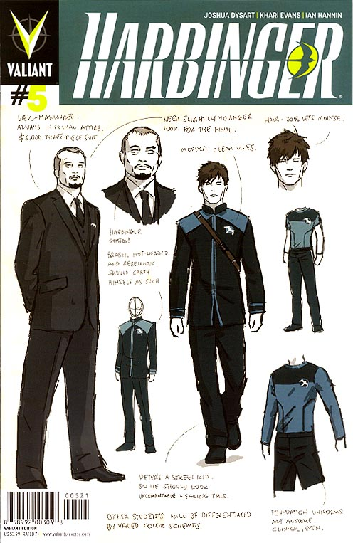 Harbinger vol 2 - 5 (David Aja Character Design Variant)