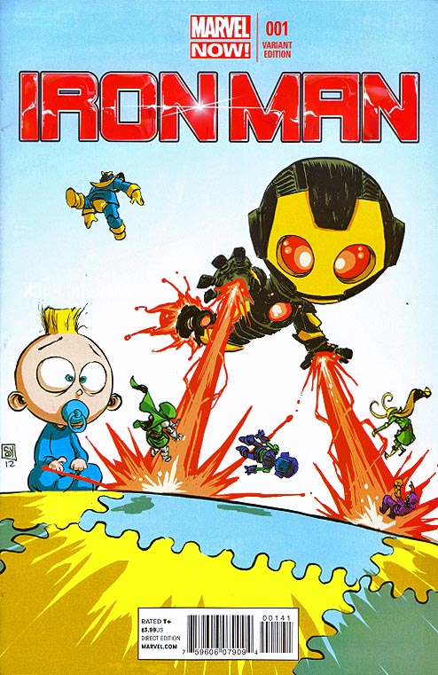 Iron Man vol 5 - 1 (Skottie Young Baby Variant)