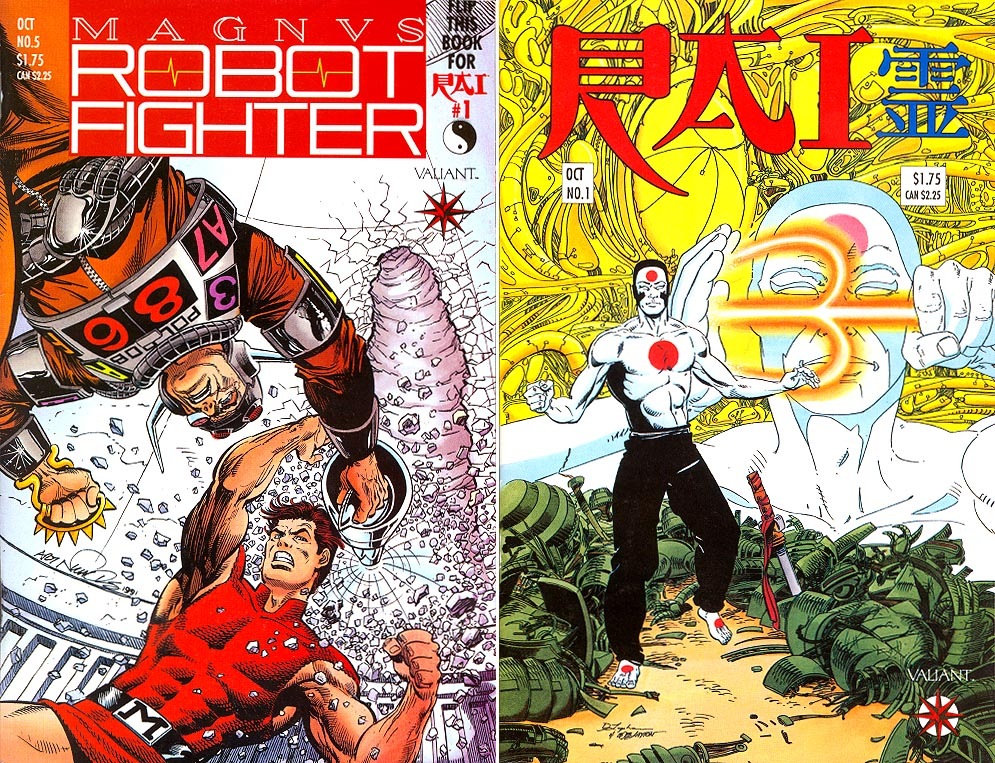 Magnus Robot Fighter (Valiant) 5 (Flip RAI 1 Both Cvrs)