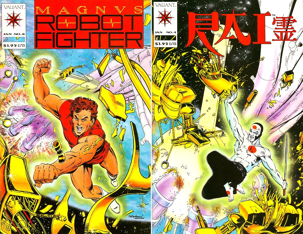 Magnus Robot Fighter (Valiant) 8 (Flip RAI 4 Both Cvrs)