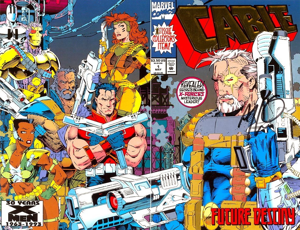 Cable 1 (Gold Foil Variant Signed By Thibert Wrap Cvr)