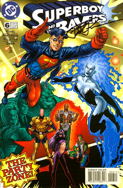 Superboy And The Ravers 6 (Signed By Paul Pelletier)