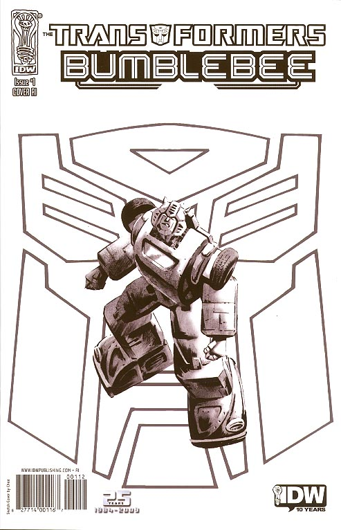 Transformers Bumblebee 1 RI ( 1 in 10 Chee Sketch Variant)