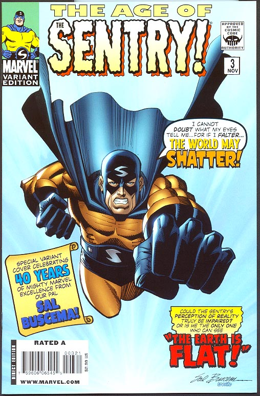 Age Of The Sentry 3 (of 6 ) (Limited Sal Buscema Variant)