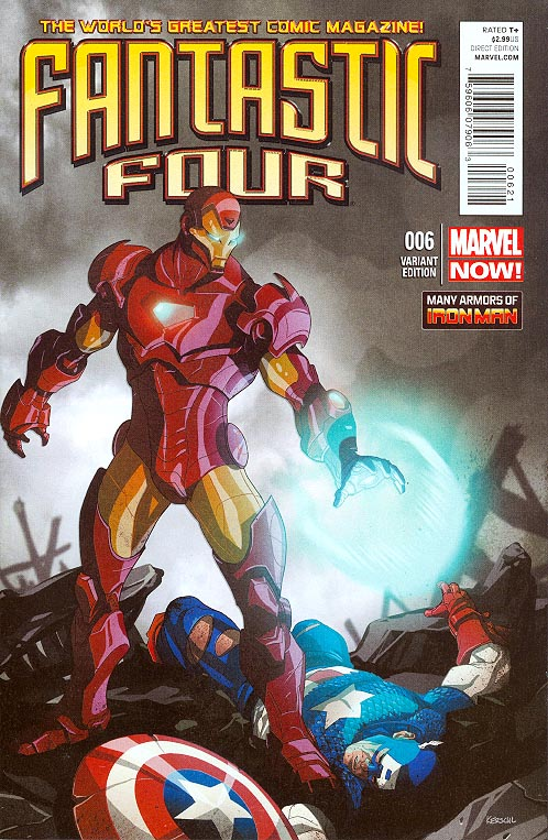 Fantastic Four vol 4 - 6 ( 1 in 20 Many Armors Of Iron Man Karl Kerschl Variant)