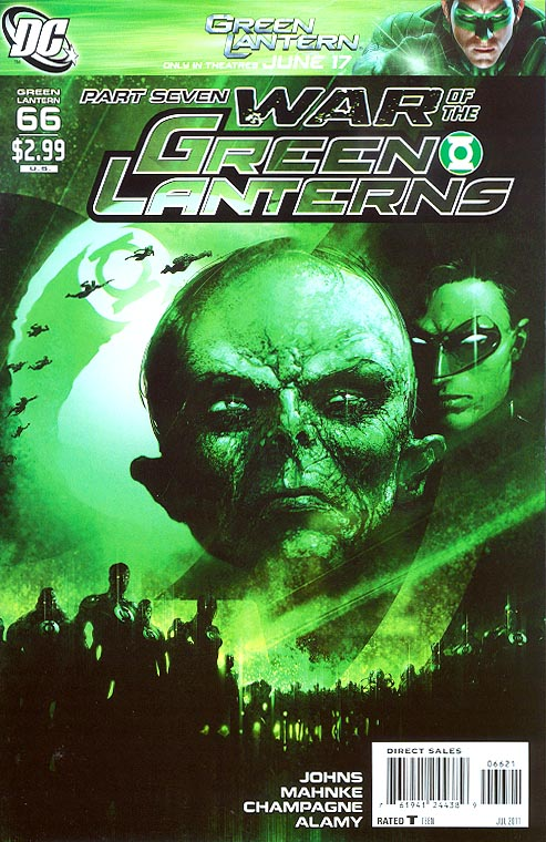 Green Lantern vol 4 - 66 ( 1 in 10 Clayton Crain Variant)