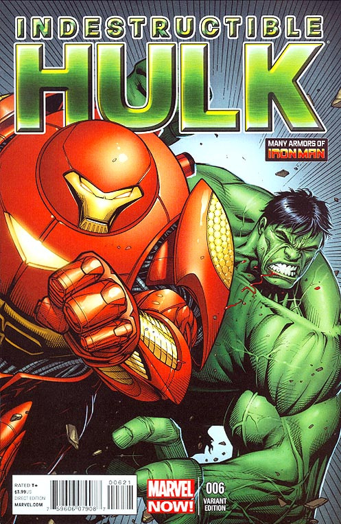 Indestructible Hulk 6 ( 1 in 20 Dale Keown Many Armors Of Iron Man Variant)