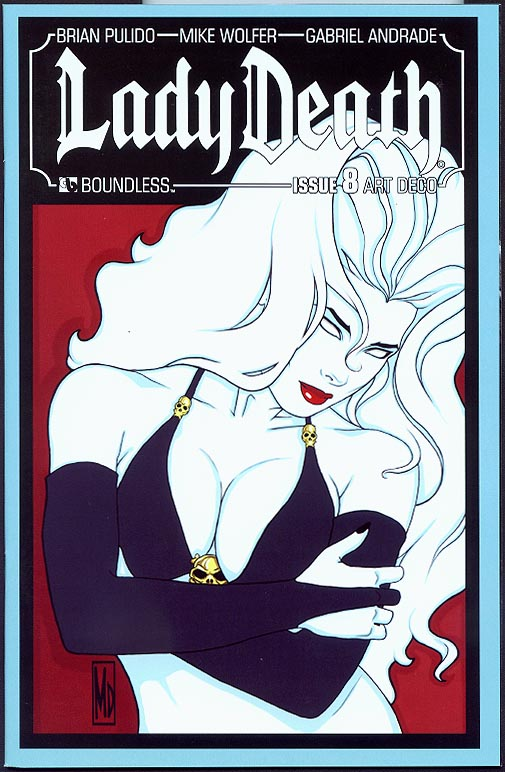 Lady Death vol 3 - 8 ( 1 in 4 Michael Di Pascale Art Deco Variant)