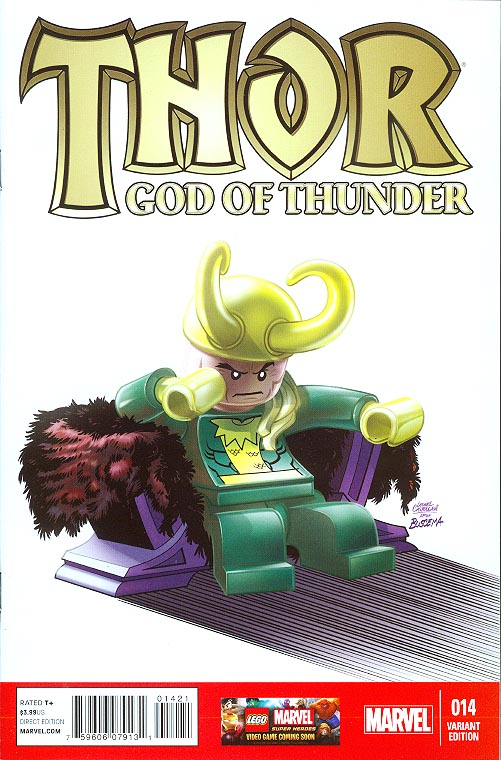 Thor God Of Thunder 14 ( 1 in 25 Leonel Castellani Lego Variant)