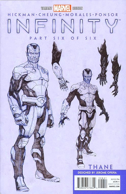 Infinity 6 (of 6 ) ( 1 in 50 Design Clayton Hickman Variant)