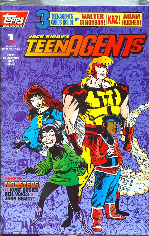 Jack Kirbys Teen Agents 1 (of 4 ) (Polybagged With 3 Cards)