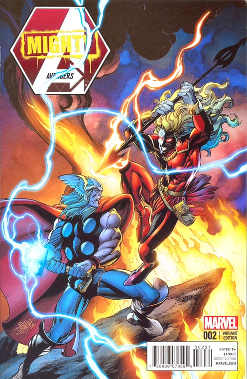 Mighty Avengers vol 2 - 2 ( 1 in 20 Thor Battle Bagley Variant)