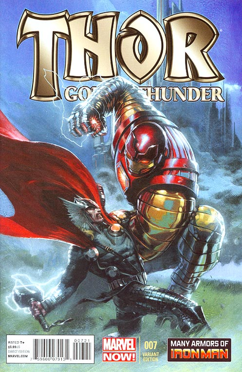 Thor God Of Thunder 7 ( 1 in 20 Gabriele Del Otto Many Armors Of Iron Man Variant)