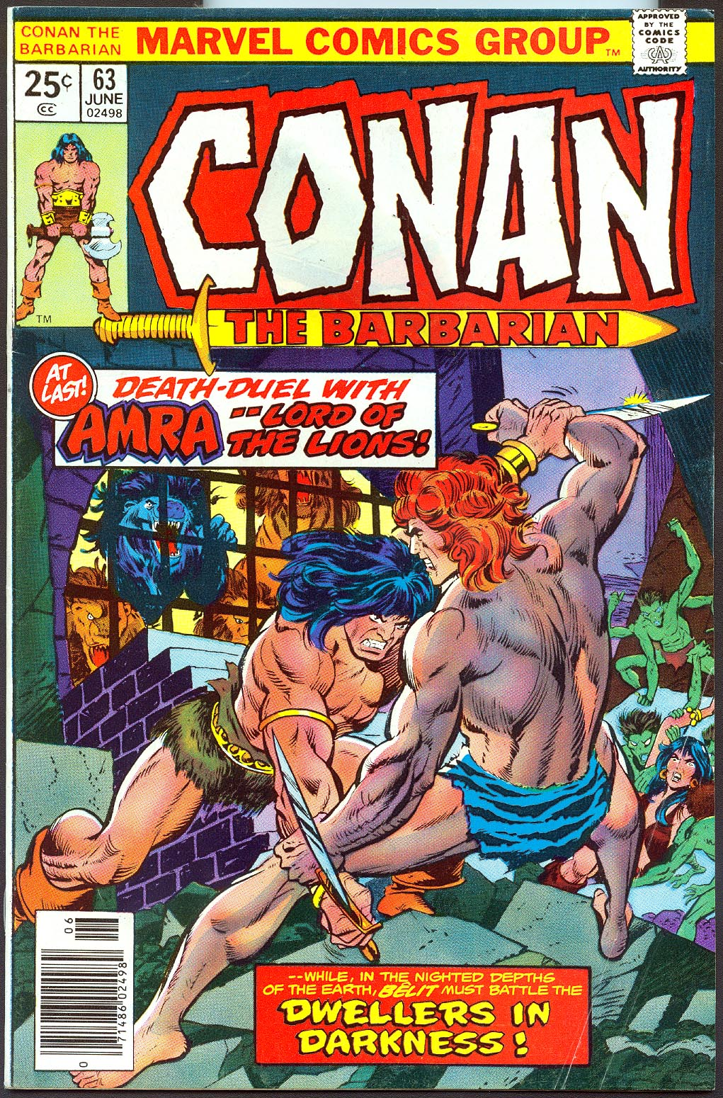 Conan The Barbarian (Marvel) 63 -F