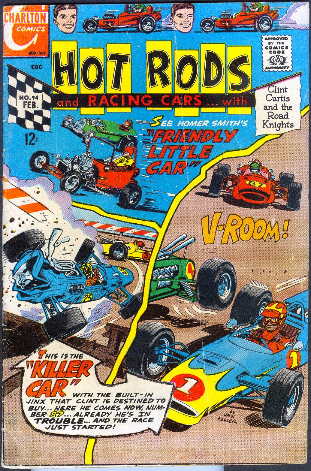 Hot Rods And Racing Cars (Charlton) 94 -VG