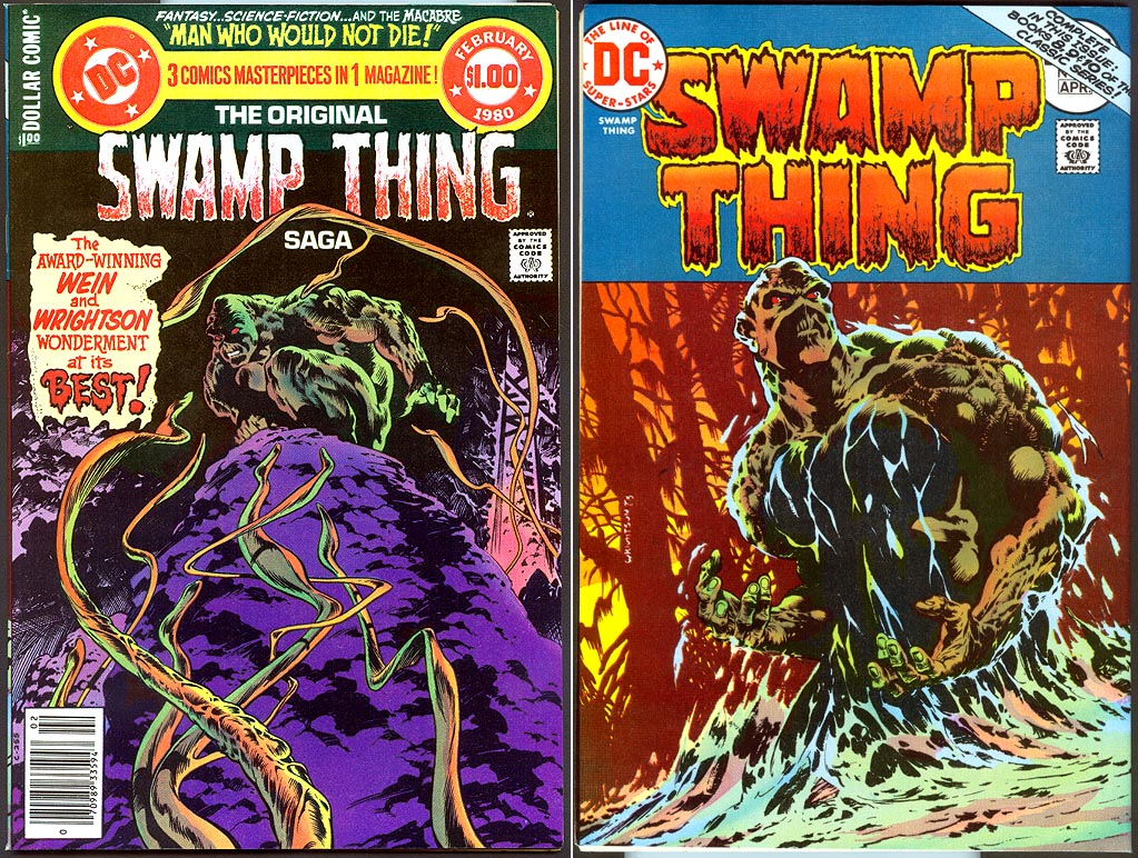 Original Swamp Thing Saga 1 (Front& Back Cvrs) -VFNM