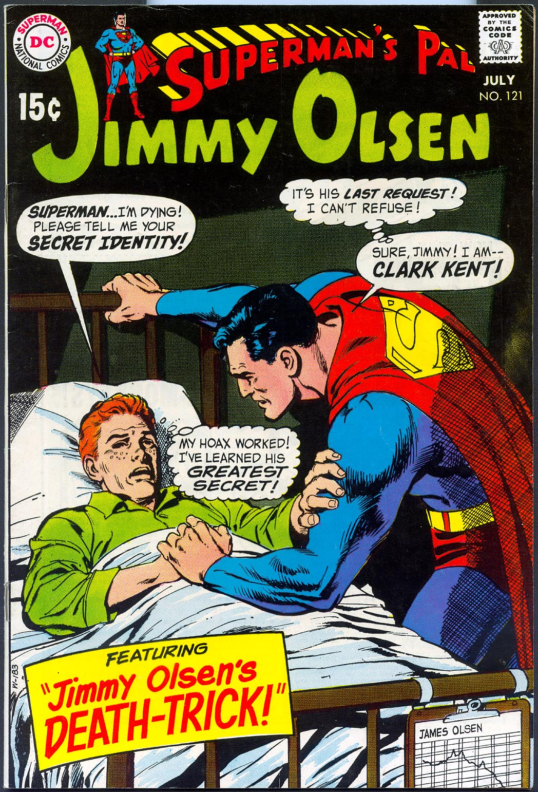 Supermans Pal Jimmy Olsen 121 -VFNM