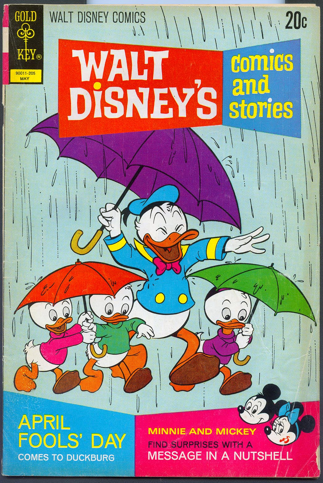 Walt Disneys Comics and Stories (Gold Key) 380 (Also Vol 32 - 8 ) -VG