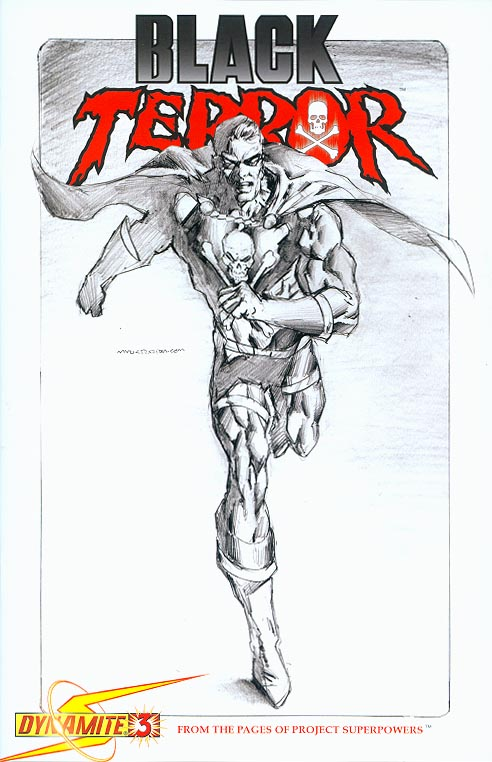 Black Terror (Dynamite) 3 ( 1 in 15 Mark Texeira Sketch Variant)