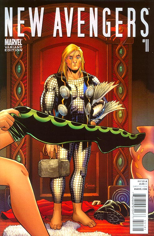 New Avengers vol 2 - 11 ( 1 in 15 Amanda Conner Thor Goes To Hollywood Variant)