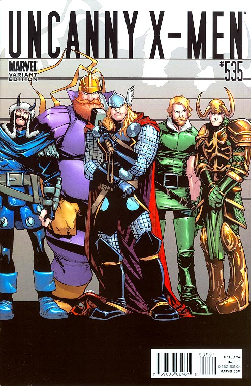 Uncanny X-Men 535 ( 1 in 15 Humberto Ramos Thor Goes To Hollywood Variant)