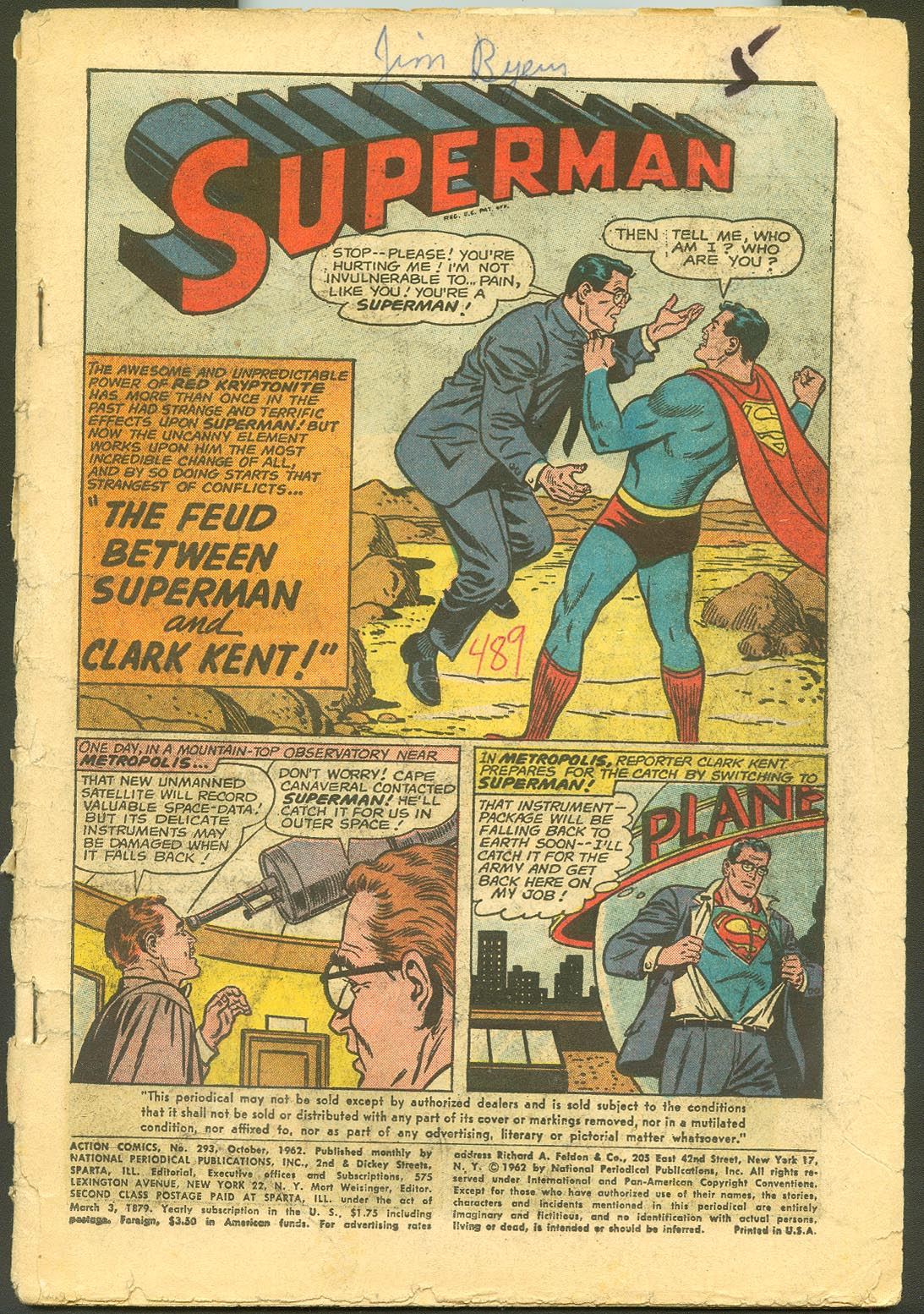 Action Comics 293 (Coverless)