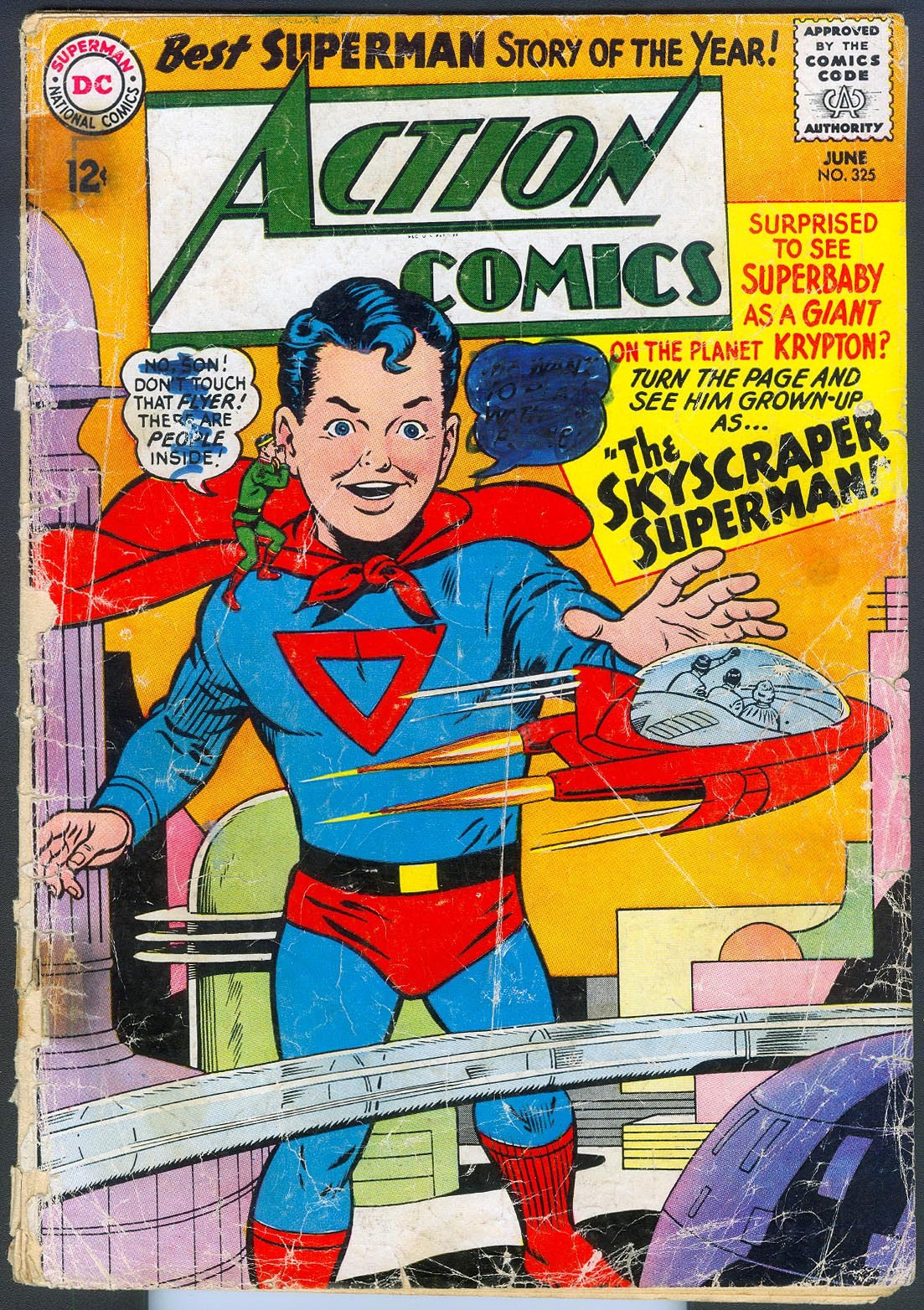 Action Comics 325 -FR (Missing back Cvr& 2 full pages)