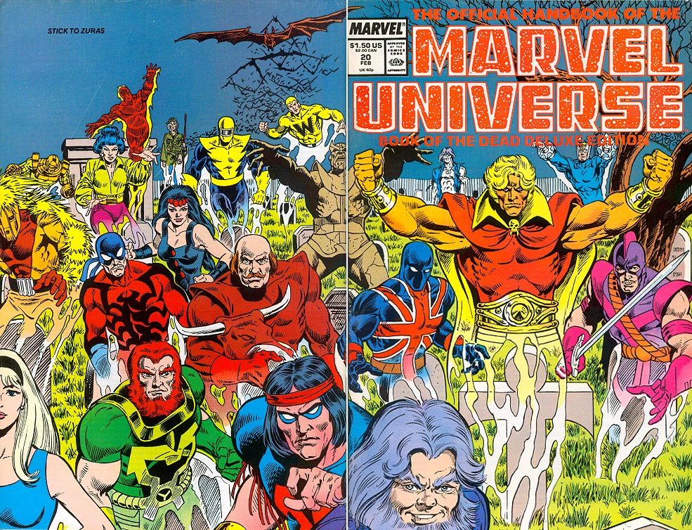 Official Handbook Of The Marvel Universe vol 2 - 20 (Wraparound Cvr) -VF