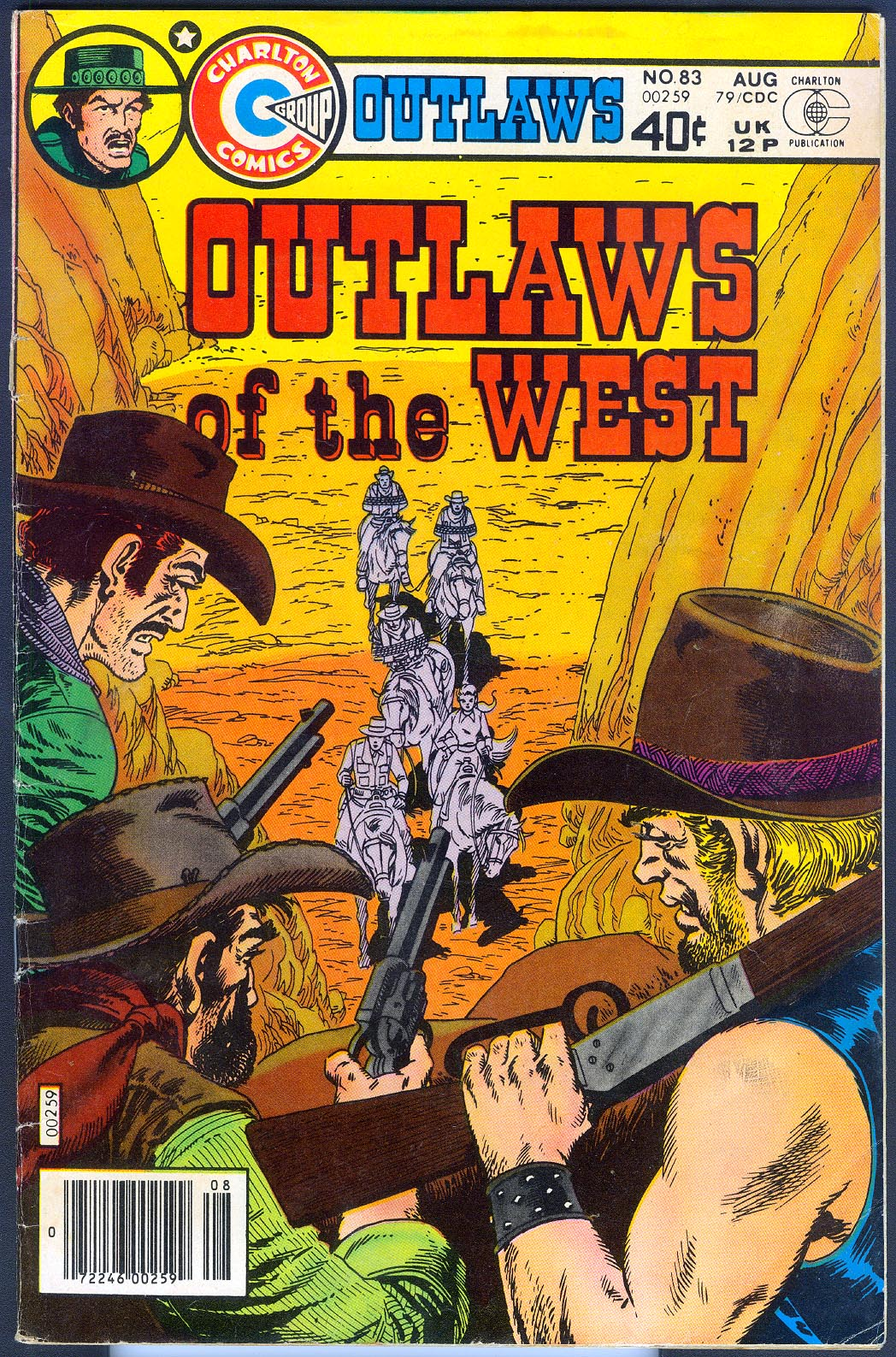 Outlaws Of The West (Charlton) 83 -VG