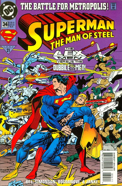 Superman The Man Of Steel 34 -VF