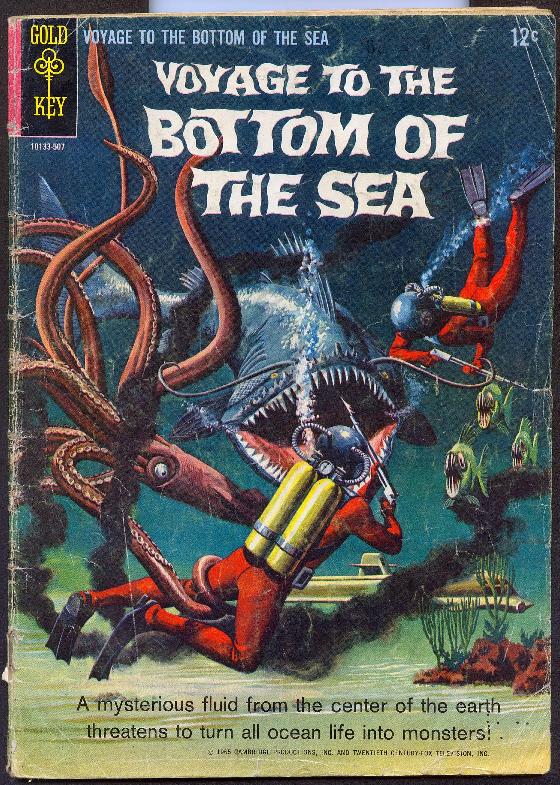 Voyage To The Bottom Of the Sea (Gold Key) 2 (No Ad Variant) -G