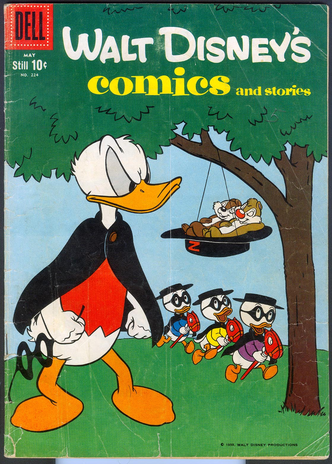 Walt Disneys Comics and Stories (Dell) 224 (Still 10 Cent Variant) -VG