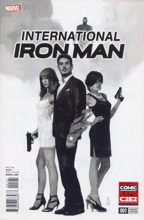 International Iron Man 1 (Maleev Previews Exclusive C 2 E 2 Inked Variant)