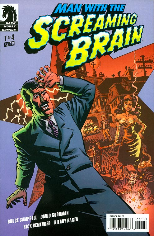 Man With The Screaming Brain 1 A (of 4 ) (Rick Remender Cvr)
