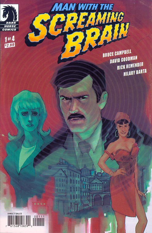 Man With The Screaming Brain 1 B (of 4 ) (Phil Noto Cvr) -VF