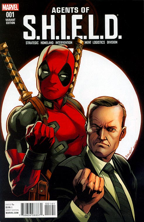 Agents Of Shield 1 ( 1 in 10 Mark Bagley Deadpool Variant)