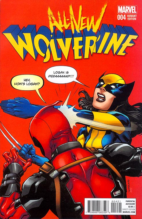 All-New Wolverine 4 ( 1 in 10 Tom Raney Deadpool Variant)