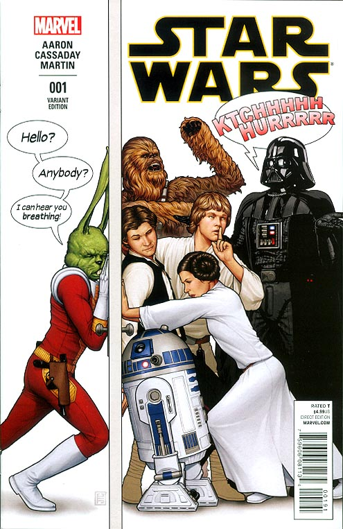 Star Wars vol 3 - 1 (John Tyler Christopher Humorous Welcome Home Launch Party Variant Cover)