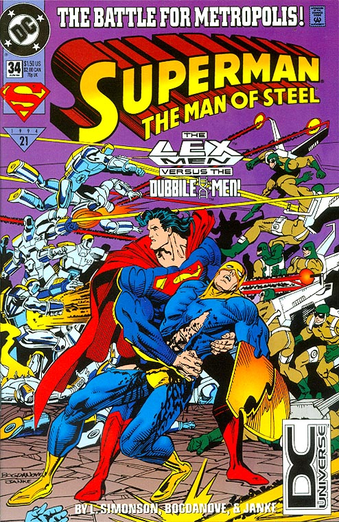 Superman The Man Of Steel 34 (Direct Ed) -VF