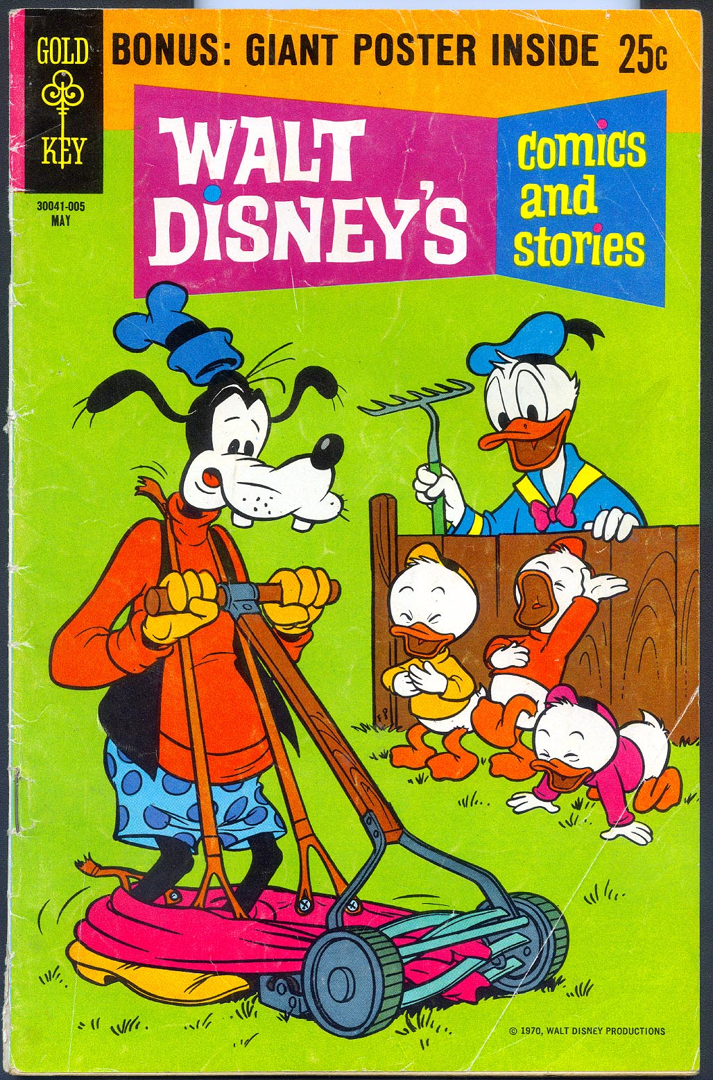 Walt Disneys Comics and Stories (Gold Key) 356 Giant Poster Edition (no poster) (Also Vol 30 - 8 ) -VG