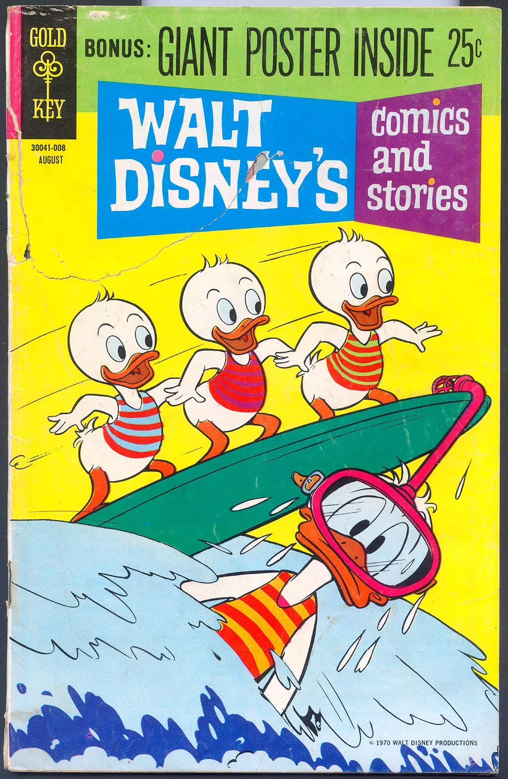 Walt Disneys Comics and Stories (Gold Key) 359 (Giant Poster Variant) (Also Vol 30 - 11 ) -FR